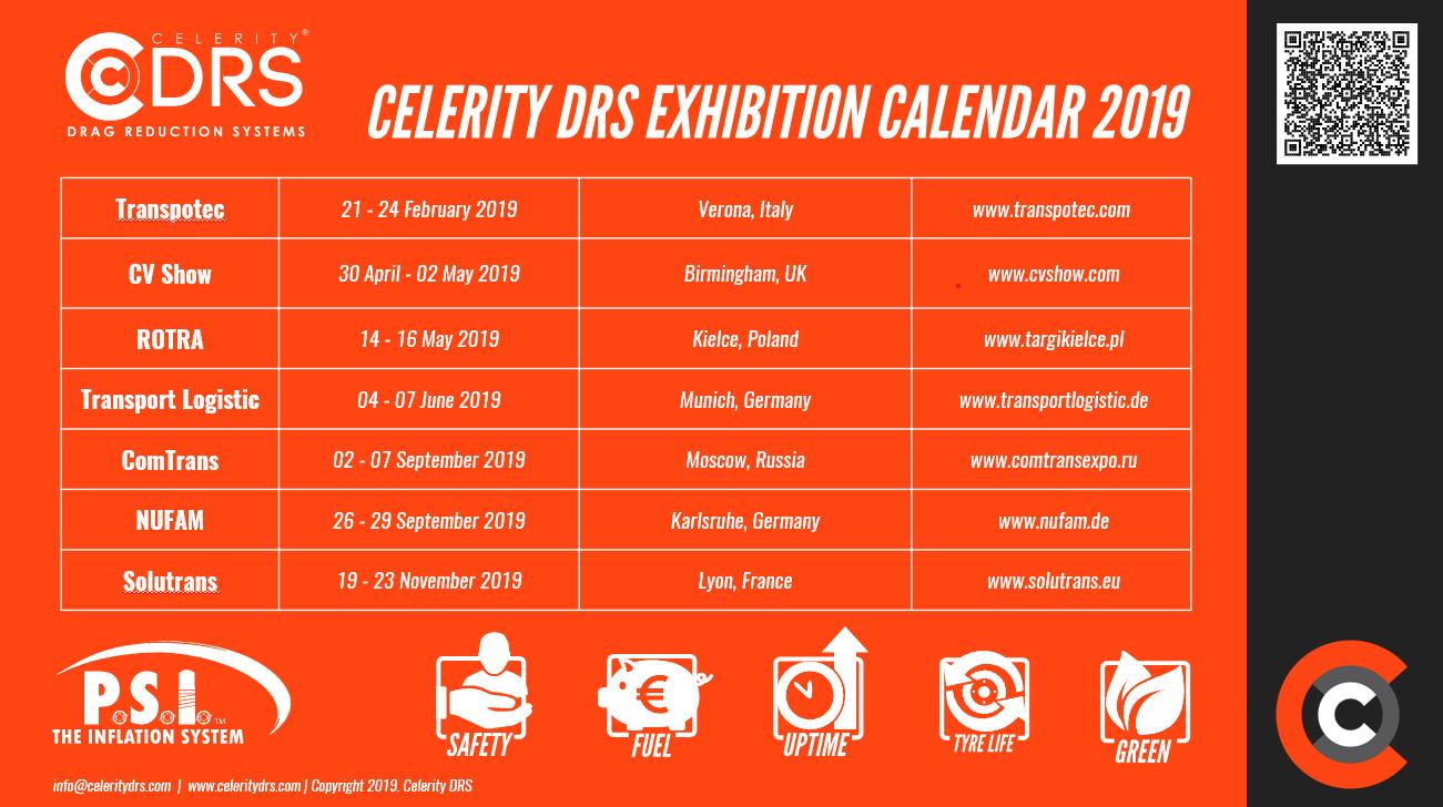 Celerity DRS Show Calendar 2019